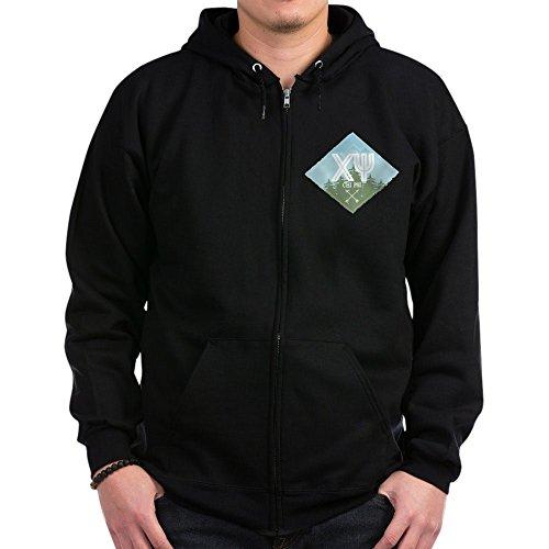 CafePress - Chi Psi Mountains Diamond Blue - Zip Hoodie, Classic Hooded Sweatshirt with Metal Zipper