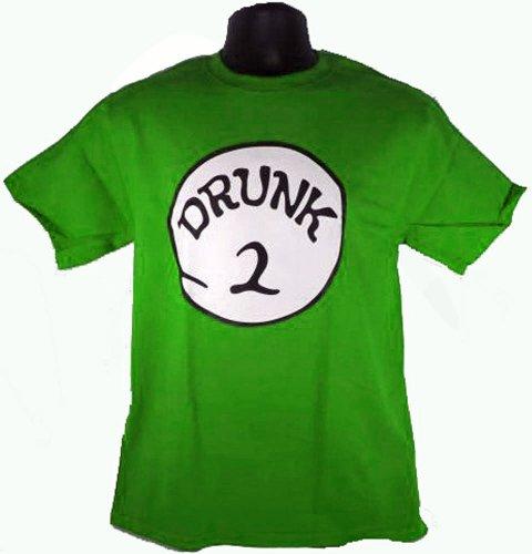 Drunk 2 Irish Green Costume Funny Adult T-Shirt Tee