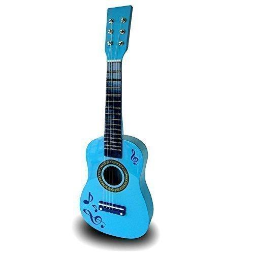 Kinder Holzgitarre Akustik Gitarre 58cm Musikinstrument Kinder Spielzeug Weihnachtsgeschenk - Blu GUITAR