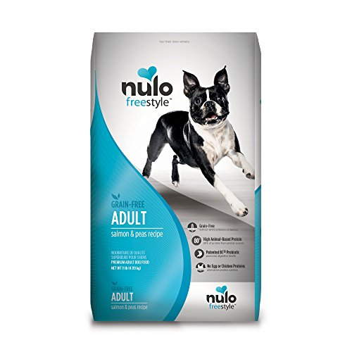 Nulo Grain Free Dog Food: All Natural Adult Dry Pet Food for Large and Small Breed Dogs (Salmon, 11lb) For Sale