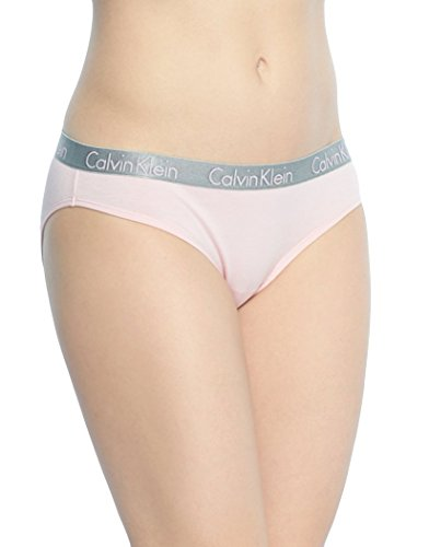 Calvin Klein Women's 3 Pack Radiant Cotton Bikini Panty, Unity/Ashford Grey/Teardrop, X-Large