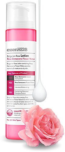 ESSENHERB BULGARIAN ROSE LOTION, Bulgarian Rose Emulsion, Providing intensive nutrition and moisture to dry skin, Whitening and Anti-Wrinkle. (120ML)