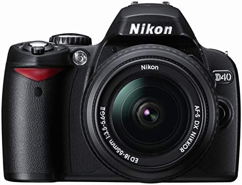 Nikon D40 6 1MP Digital SLR Camera Kit with 18-55mm f/3 5-5 6G ED II Auto  Focus-S DX Zoom-Nikkor Lens