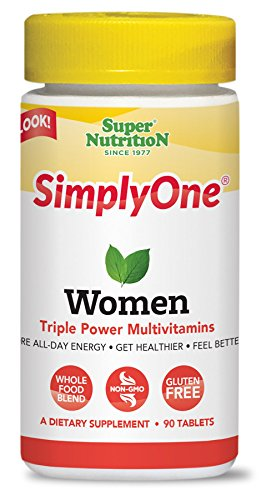 SimplyOne Multivitamin for Women, Daily All-In-One Vitamin by SuperNutrition, 90 Day Supply; Best Value Pack by SuperNutrition