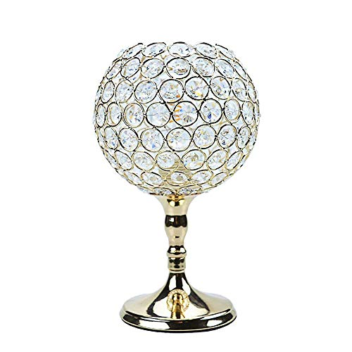 Table Lamp Crystal Nightstand Decorative Desk lamp Bedside Modern Night Light with Golden Lamp Shade for Bedroom, Living Room, Dining Room, Kitchen Crystal Spheres Table Lamp