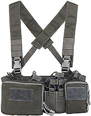 Tactical Assault Chest Rig 500D Molle Multicam Tactical Vest with Multi-Pockets