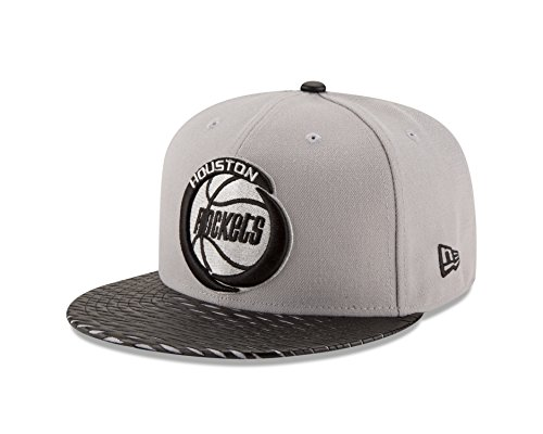NBA Houston Rockets Leather Rip 59FIFTY Fitted Cap, 7.5, (New Era Cap Leather Cap)
