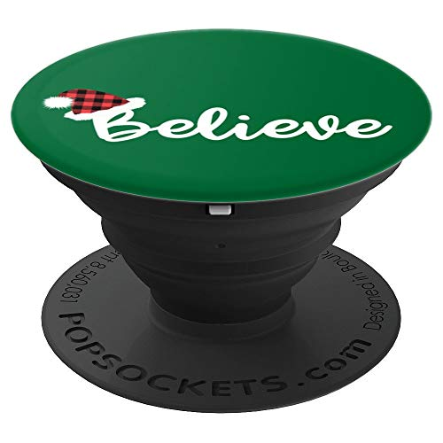 Santa Hat Gift- Cute Text Lettering Novelty Xmas for Girls - PopSockets Grip and Stand for Phones and -