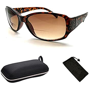 1bf1b5f2554 Fashion Designer Sun Readers Women Bifocal Sunglasses + Reading Glasses All  in One … (Tortoise