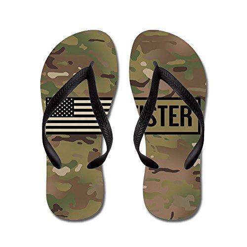 CafePress U.S. Army: Fister (Camo) - Flip Flops, Funny Thong Sandals, Beach Sandals Black