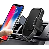 Easy One-Hand Operating Car Phone Holder,Automatic Locking System Universal Car Phone Mount,Gravity Automatic Cell Phone Car Holder Apply for 3-6 inch Screen Smartphone/Other Devices-Black