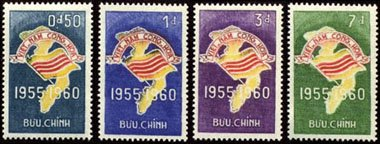 South Vietnam Stamps - 1960 , Sc 146-9 Map and Flag of Vietnam, MNH, F-VF (Flag Stamps Mnh)