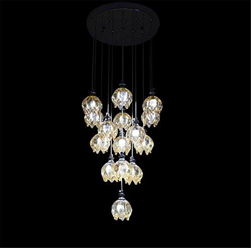 (Crystal chandelier-like transparent glass Dragon fruit LED the restaurant den long chandelier lighting)