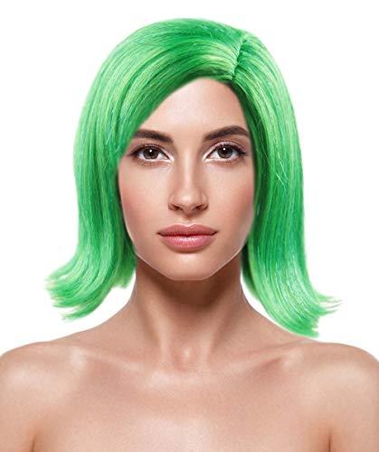 Halloween Party Online Disgust Green Wig, Adult HW-137 ()