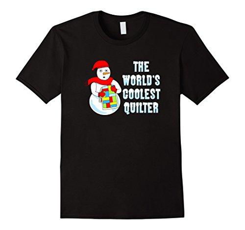Mens Coolest Quilter Snowman Funny Needlecraft T-Shirt 3X...