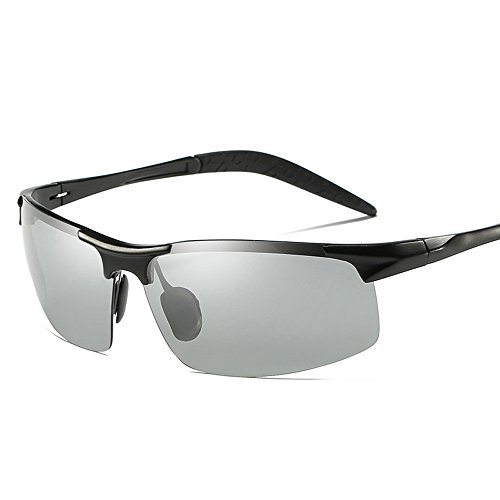 MOTELAN Men's Photochromic Polarized UV400 Sunglasses for Outdoor Fishing Golf Beach Baseball Sports - Mens Sunglasses Photochromic