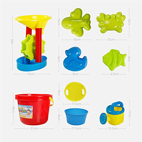 GYJ Beach Sand Toys Set Models Activity & Entertainment Guardrail Safety Fence Children Cassia Toys Marine Ball Suit Baby Play Sand Pool Tools Cloth Hourglass Home Playing by GYJ (Image #7)