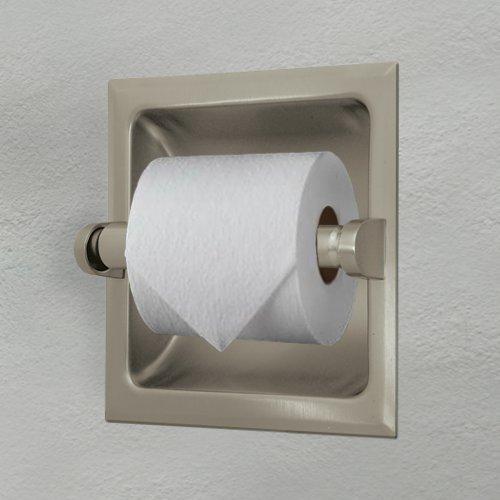Satin Nickel Toilet Paper Holder
