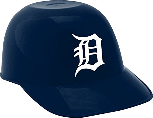 MLB Detroit Tigers Mini Baseball Helmet Snack Bowl, Blue, 8 oz