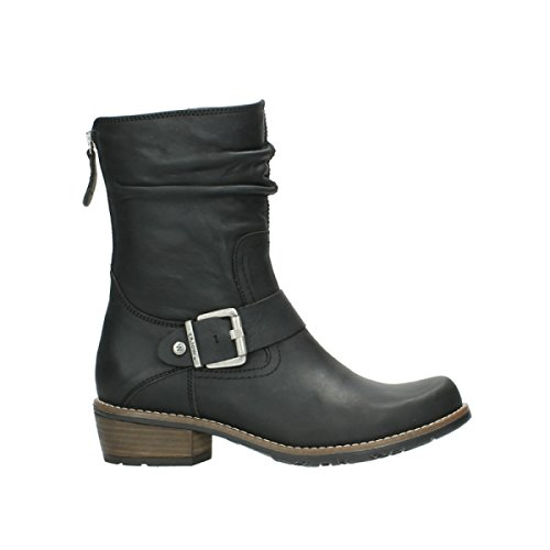 black Bottes oiled 00572 Comfort leather Wolky 50000 nbsp;Lis UO5Xwxq