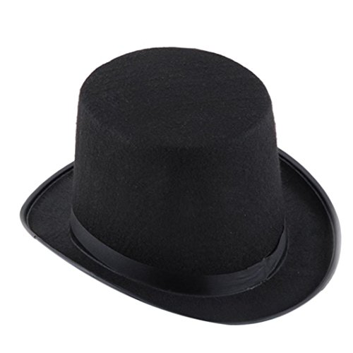 DATEWORK Halloween Black Hat Magic Hat Jazz Hat