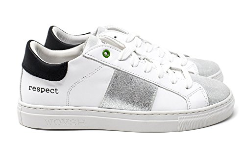 Donna Argento Made Pelle Kingston 18 bianco Womsh Italy Sneakers In 8qRtTwaw