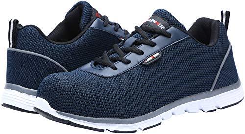 De Ultra Acero Cómodo Trabajo Zapatos Con Seguridad Liviano Dy Y Transpirable 112 Zapatillas Suave Mujer Punta hombre Blanco Azul dvx4nHPq