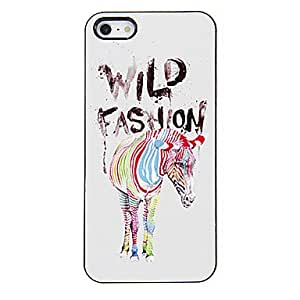 QHY Trendy Colorful Zebra Pattern Aluminous Hard Case for iPhone 5/5S