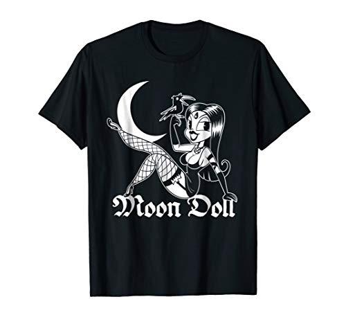 Moon Devil Doll T-Shirt Pin Up Pastel Goth Girl 30s Cartoon