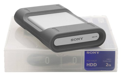 Sony 2TB Professional Portable Hard Disk Drive, 5400RPM, USB 3.0 & Firewire 800, Up to 120MBps Data Transfer Rate