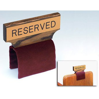 Religious Supply Flexible Fabric Pew Reserved Sign for sale  Delivered anywhere in USA