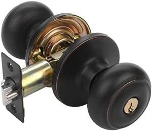 Dynasty Hardware V-SIE-00-12P Sierra Keyed Entry Door Knob, Aged Oil Rubbed Bronze, Visual Pack