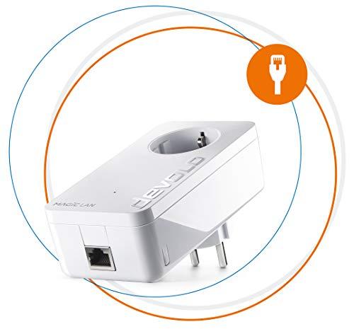 devolo-Magic-1--1200-LAN-Single-Adapter-Adaptador-de-ampliacion-Powerline-para-Internet-en-toda-la-casa-adecuado-para-la-Home-Office-1200-Mbits-1-x-conexion-Gigabit-LAN-Ghn