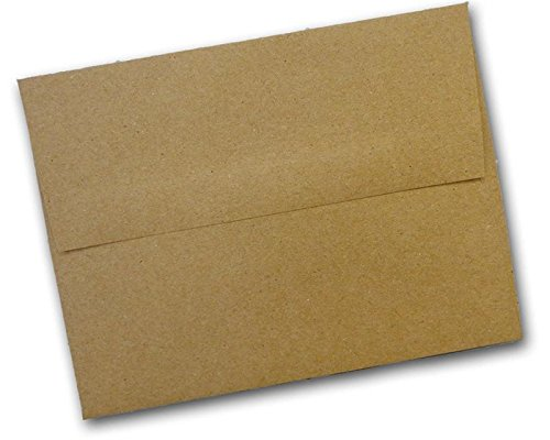 Brown Bag Kraft A7 Square Flap Invitation Envelopes 200 Pack