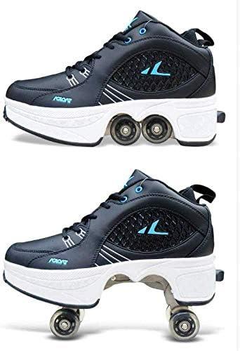 Patins D/éformer Roue Patins pour Adulte Hommes Femmes Unisexe Couple Childred Fuyez Patins /À Quatre Roues,39 D/écontract/ée des Chaussures Baskets Marche Sneaker