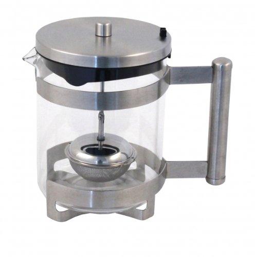 Ernesto Tetera de té Colador 1 litro de vidrio de borosilicato: Amazon.es: Hogar