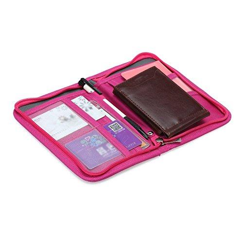 Gleader Borsetta Corta in Tela Fuxia Porta Biglietti da Visita Carta ID Passaporto Footaction Amazon KAkOYte3Y