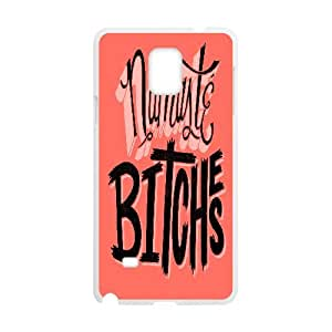 Cases for Samsung Galaxy Note 4, Typography Namaste Bitches Cases for Samsung Galaxy Note 4, Yearinspace White
