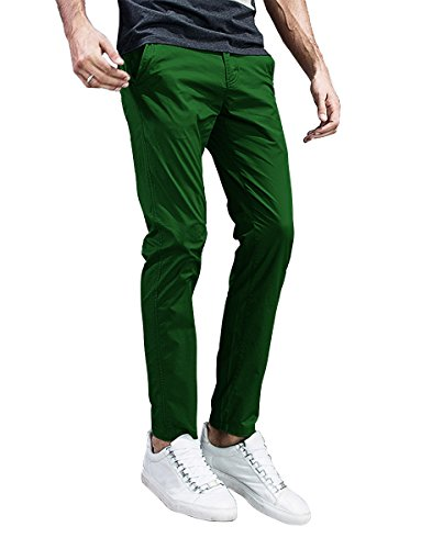 (Match Mens Slim-Tapered Flat-Front Casual Pants (32, 8105 Grass Green))