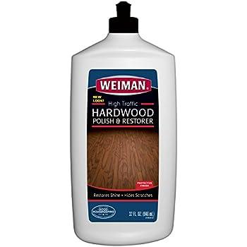 Weiman High Traffic Hardwood Floor Polish U0026 Restorer   Shines U0026 Hides  Scratch Marks,