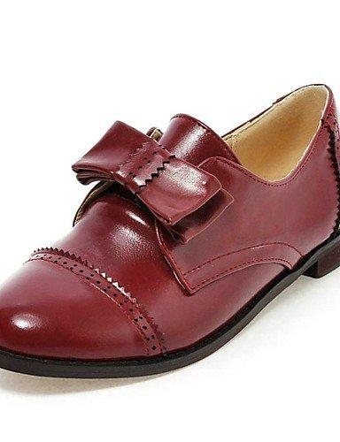 ShangYi Zapatos Mujer - Mocasines - Casual - Punta redondeada - cuadrado - de piel - Negro/Marrón/Borgoña, marrón: Amazon.es: Deportes y aire libre