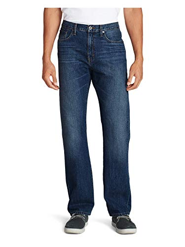 (Eddie Bauer Men's Authentic Jeans - Relaxed Fit, Faded Indigo Regular 34/30 Regu)