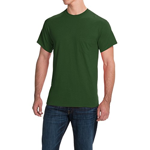 Falcon Bay/Pj Big and Tall Big and Tall Pocket T Shirts up To Size 10X Color Hunter New and Improved (2XB Big, Hunter Green) - Falcon Bay Big And Tall T-shirt