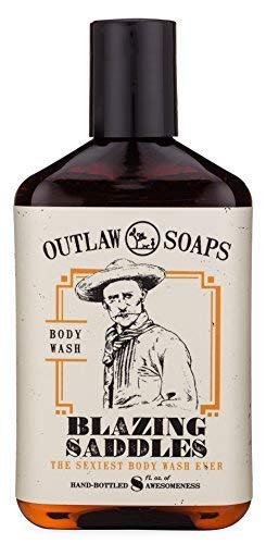 Blazing Saddles Natural Body Wash - The Sexiest Body Wash Ever - Western leather, gunpowder, sandalwood, and sagebrush - men's and women's body wash