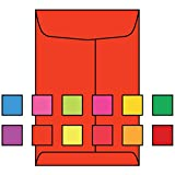 """Open End Catalog, 9"""" x 12"""", 28#, Recycled, Brightly Colored Orange Sulphite, Acid Free, Center Seam (Box of 500)"""