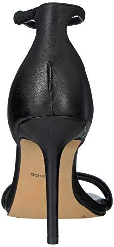 Sandalo Con Tacco In Pelle Nera Dolce Vita Donna
