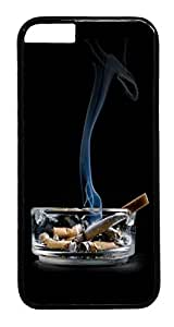 ACESR Cigarettes On Ashtray iPhone 6 Hard Case PC - Black, Back Cover Case for Apple iPhone 6(4.7 inch)