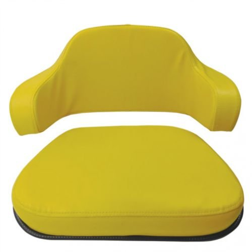 Seat Cushion Set- 2 Piece American Style Vinyl Yellow John Deere AR65448 TY9379 4020 4000 7700 2040 2030 1020 2020 2355 830 2440 2640 1520 2555 2750 2350 2755 2550 2630 2955 2155 4400 2150 1010 2130 by All States Ag Parts