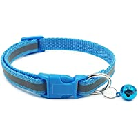 Reflective Cat Collar with Bell Basic Dog Cat Collar Breakaway Buckle Adjustable Polyester Cat Dog Collar or Seatbelts…