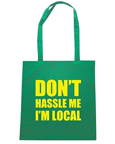 T-Shirtshock - Bolsa para la compra FUN1250 Don t Hassle Me I m Local Verde
